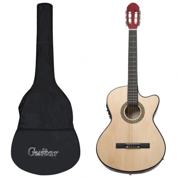 Western-guitarsæt 12 dele med equalizer og 6 strenge