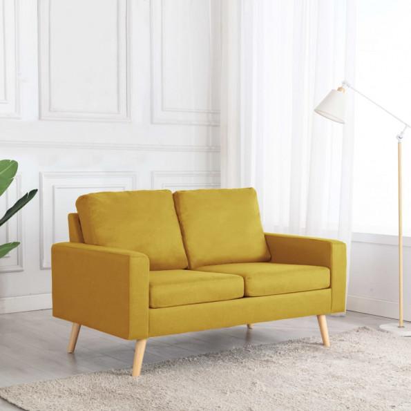 2-personers sofa stof gul