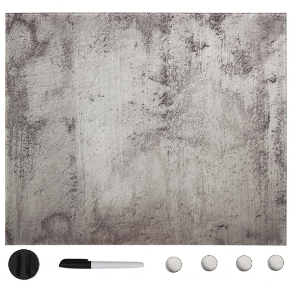 Vægmonteret magnetisk tavle 40x40 cm glas