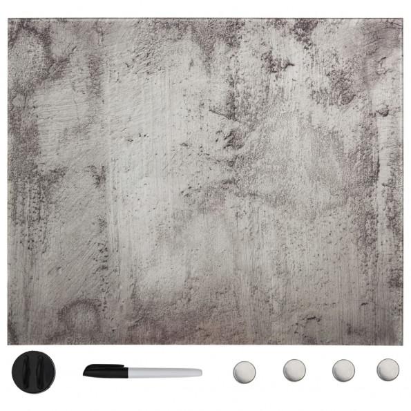 Vægmonteret magnetisk tavle 50x50 cm glas