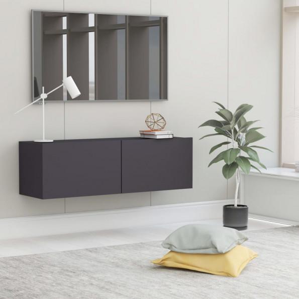 Tv-skab 100x30x30 cm spånplade grå