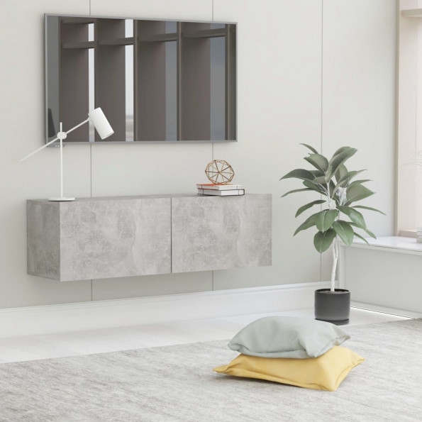 Tv-skab 100x30x30 cm spånplade betongrå