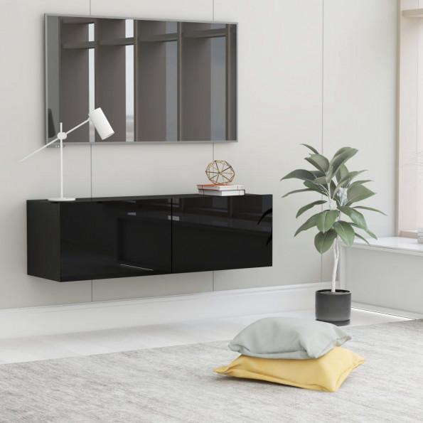 Tv-skab 100x30x30 cm spånplade sort højglans