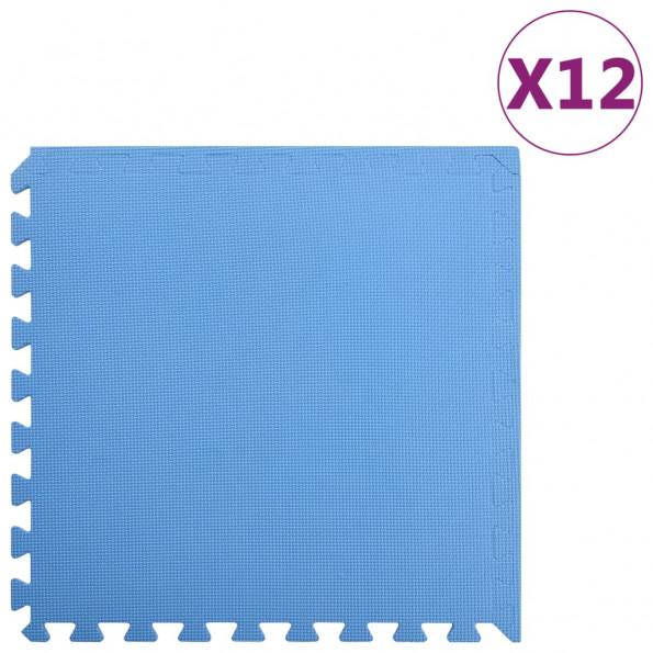 Gulvmåtter 12 stk. 4,32 ㎡ EVA-skum blå
