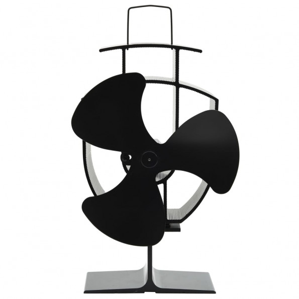 Varmedrevet ventilator med 3 blade sort