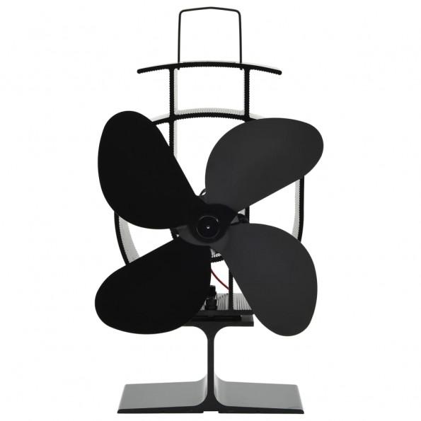 Varmedrevet ventilator med 4 blade sort