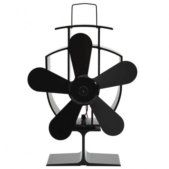Varmedrevet ventilator med 5 blade sort