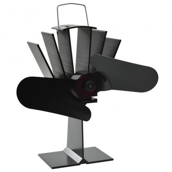 Varmedrevet ventilator med 2 blade sort