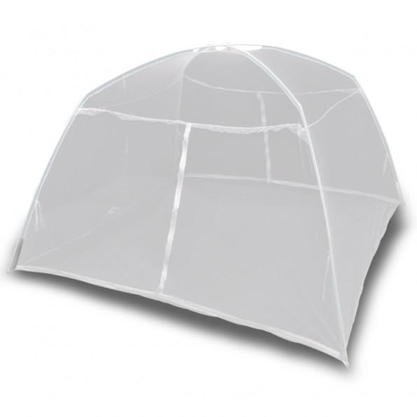 Campingtelt 200x120x130 cm glasfiber hvid