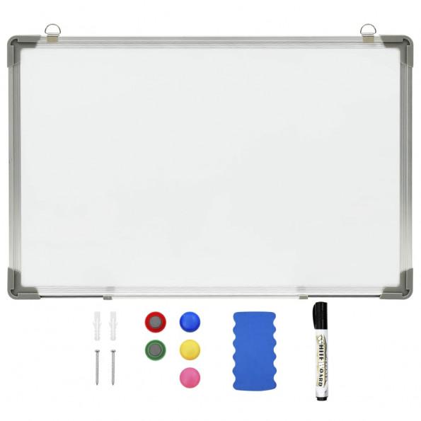 Magnetisk whiteboard 50x35 cm stål hvid