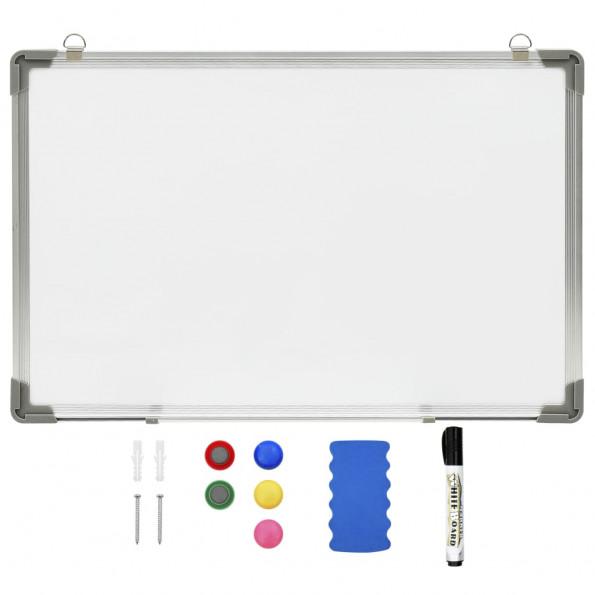 Magnetisk whiteboard 60x40 cm stål hvid