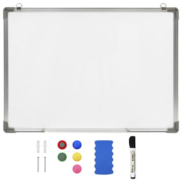 Magnetisk whiteboard 90x60 cm stål hvid