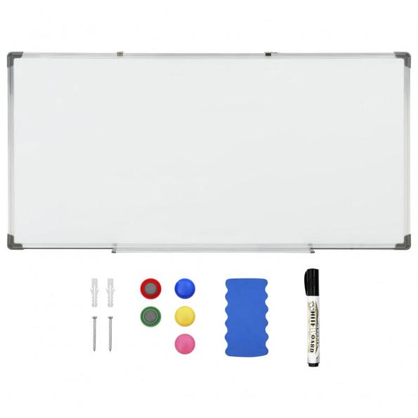 Magnetisk whiteboard 120x60 cm stål hvid