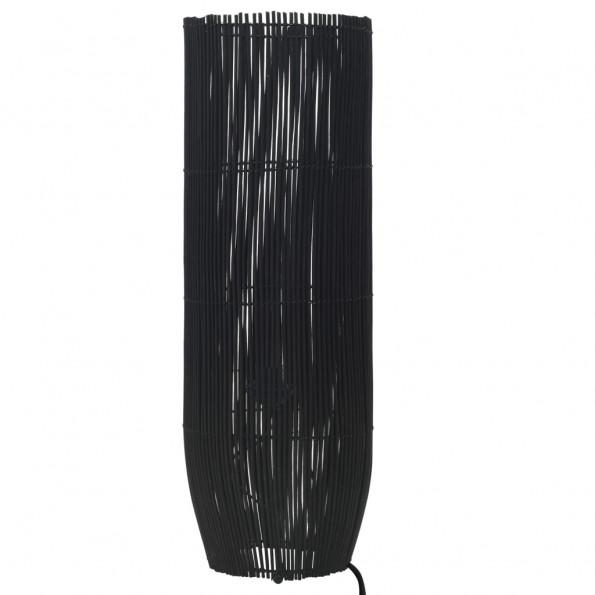 Gulvlampe E27 84 cm piletræ sort