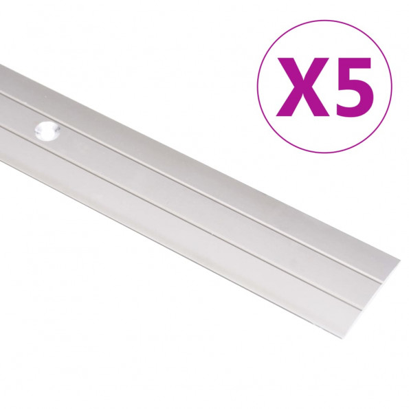5 stk. gulvlister 100 cm aluminium guldfarvet
