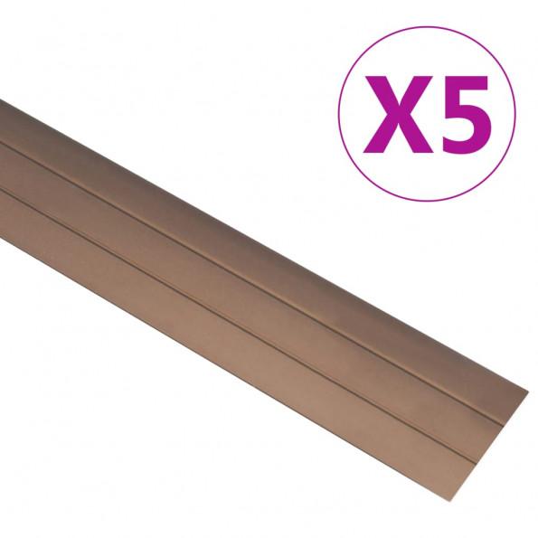 5 stk. gulvlister 100 cm aluminium brun