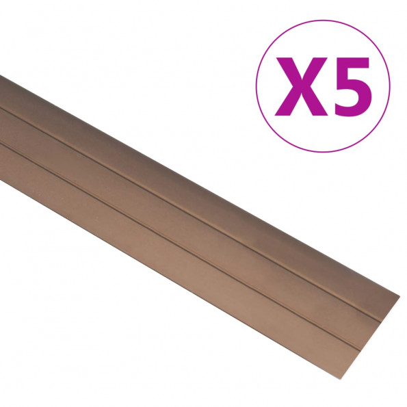 5 stk. gulvlister 134 cm aluminium brun