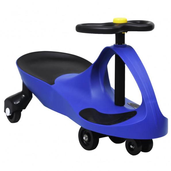 Løbebil med horn blå