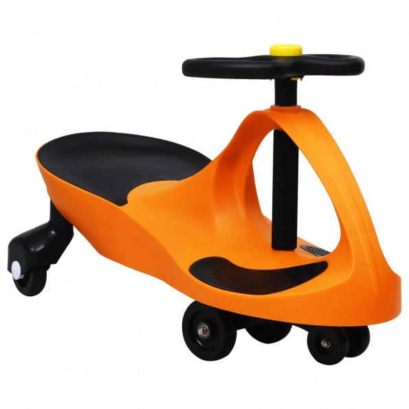 Løbebil med horn orange