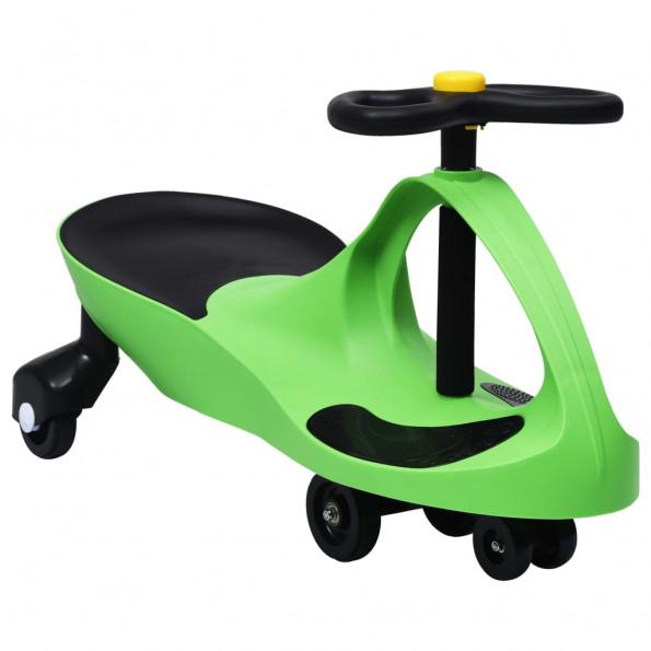 Løbebil med horn grøn