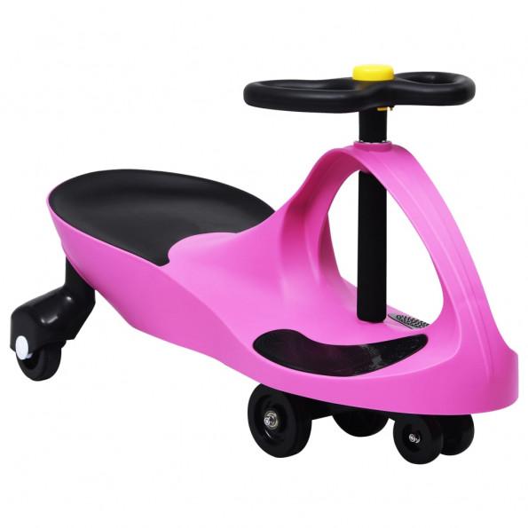 Løbebil med horn pink