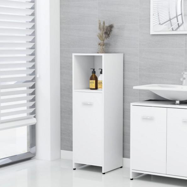 Badeværelsesskab 30x30x95 cm spånplade hvid