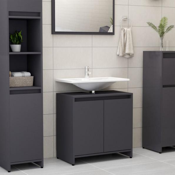 Badeværelsesskab 60x33x58 cm spånplade grå