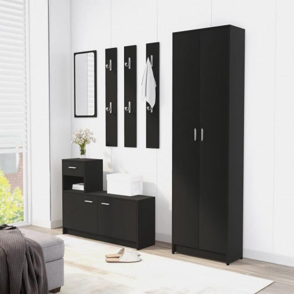 Entrémøbel 100x25x76,5 cm spånplade sort
