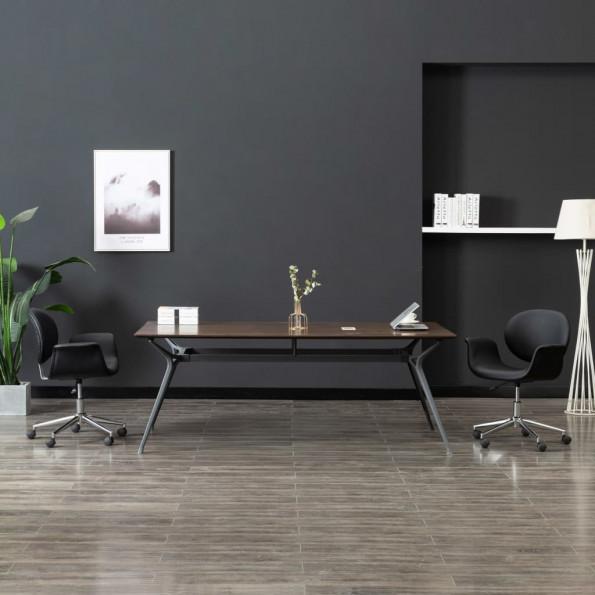 Drejelig kontorstol kunstlæder sort