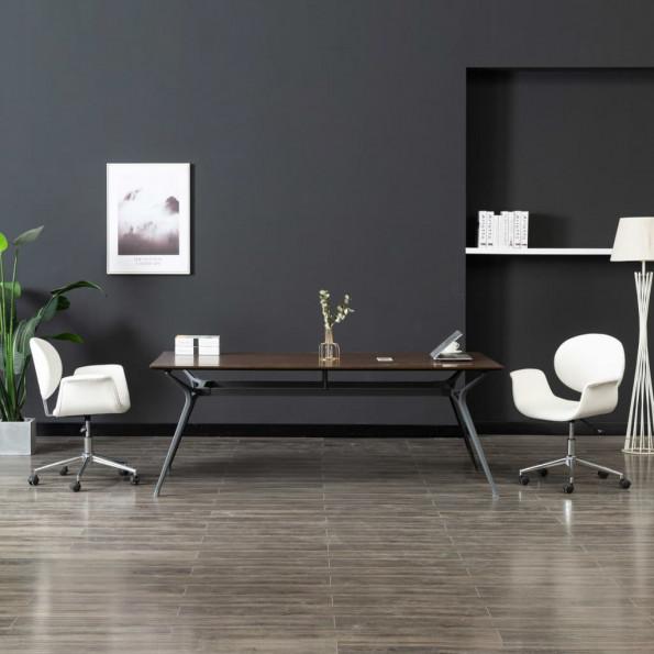Drejelig kontorstol kunstlæder hvid