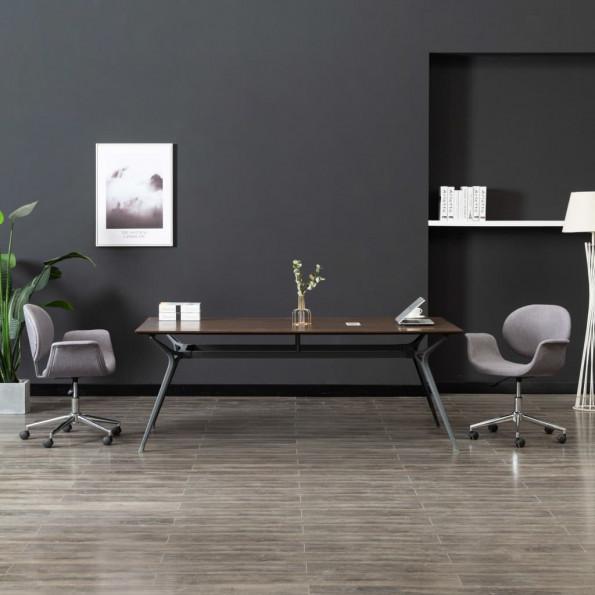 Drejelig kontorstol stof grå