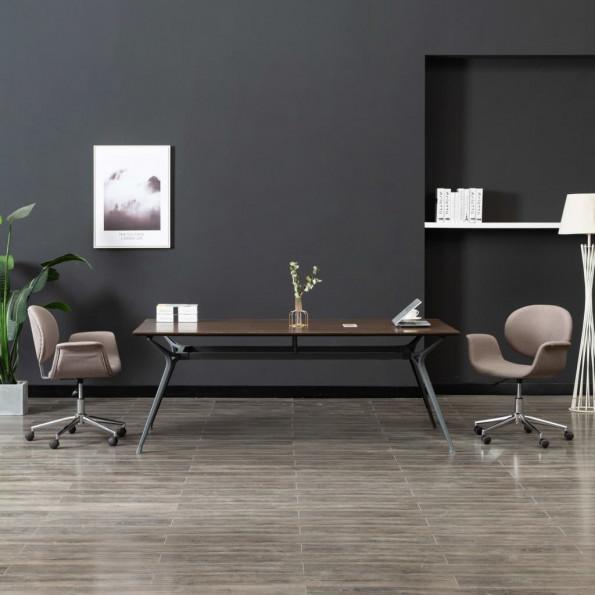 Drejelig kontorstol stof gråbrun
