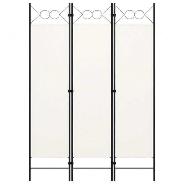 3-panels rumdeler 120x180 cm hvid