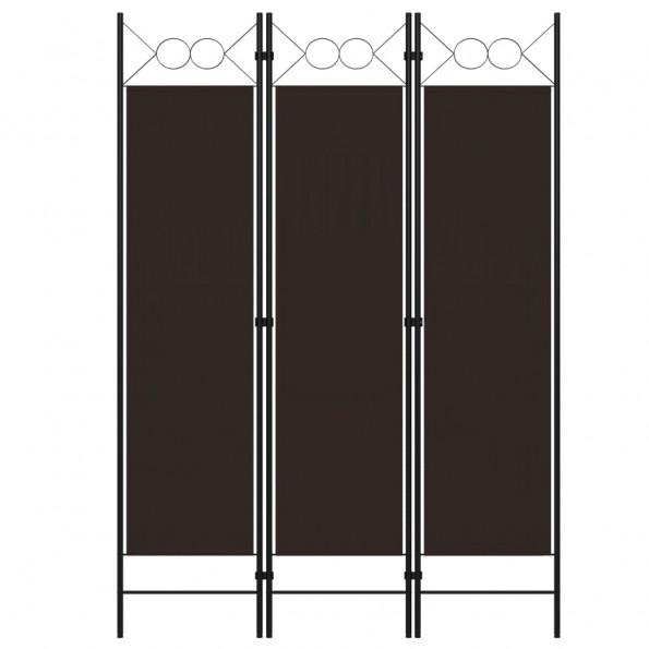 3-panels rumdeler 120x180 cm brun