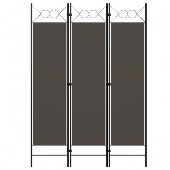 3-panels rumdeler 120x180 cm antracitgrå