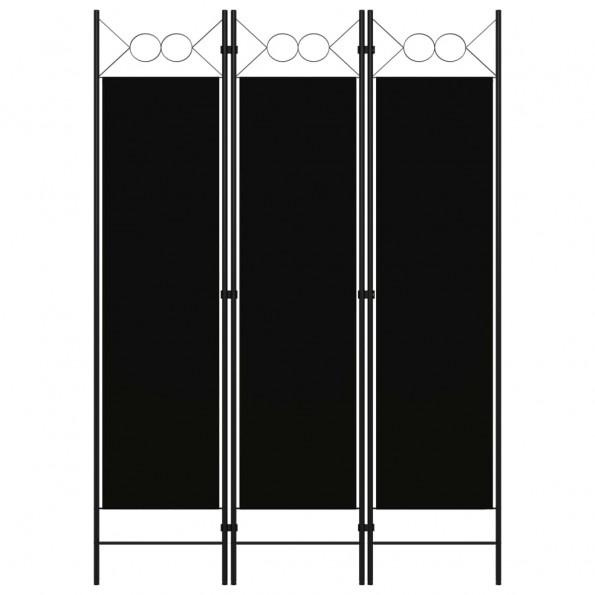 3-panels rumdeler 120x180 cm sort