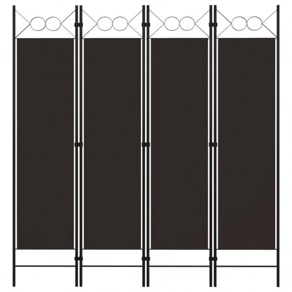 4-panels rumdeler 160x180 cm brun