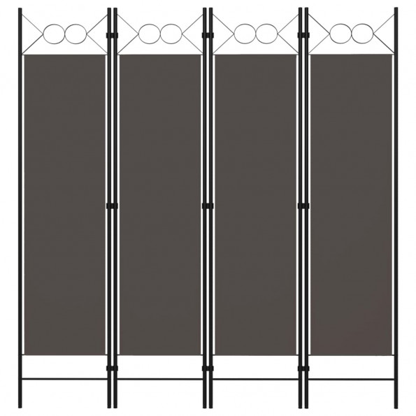 4-panels rumdeler 160x180 cm antracitgrå