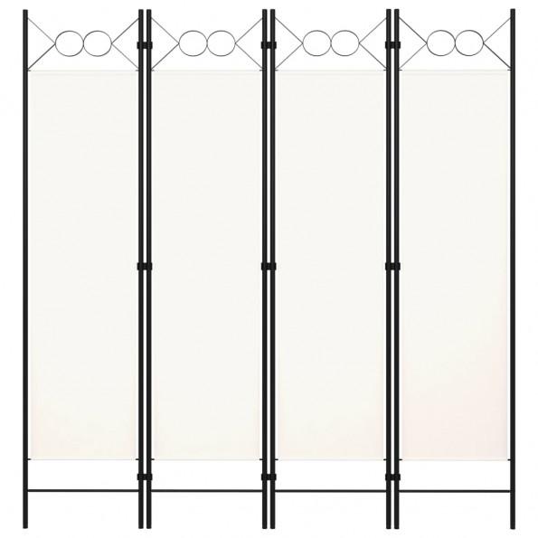 4-panels rumdeler 160x180 cm hvid