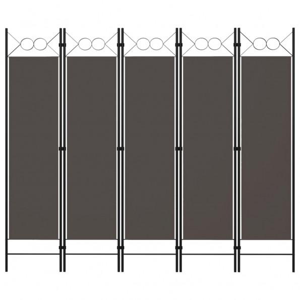 5-panels rumdeler 200x180 cm antracitgrå