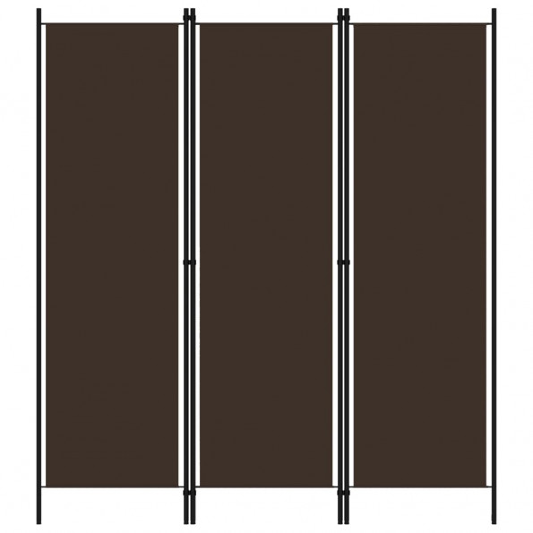 3-panels rumdeler 150 x 180 cm brun