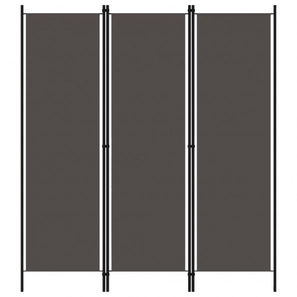 3-panels rumdeler 150 x 180 cm antracitgrå