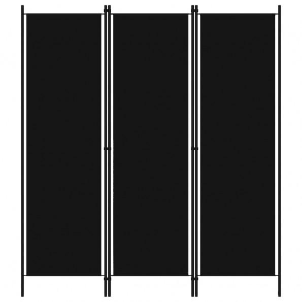 3-panels rumdeler 150 x 180 cm sort