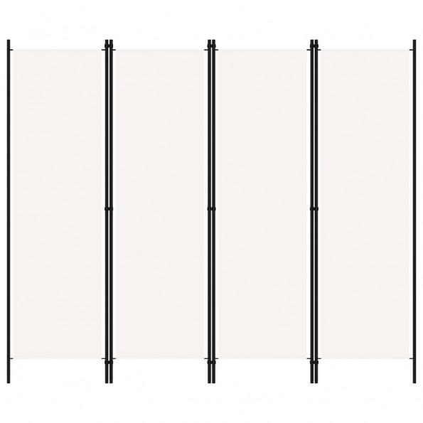 4-panels rumdeler 200 x 180 cm hvid