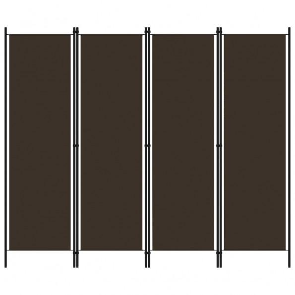 4-panels rumdeler 200 x 180 cm brun
