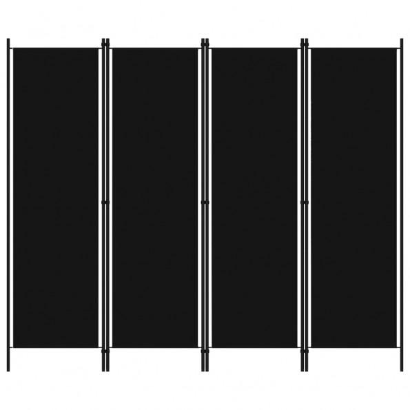 4-panels rumdeler 200 x 180 cm sort