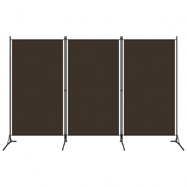 3-panels rumdeler 260 x 180 cm brun