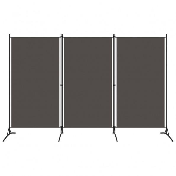 3-panels rumdeler 260 x 180 cm antracitgrå