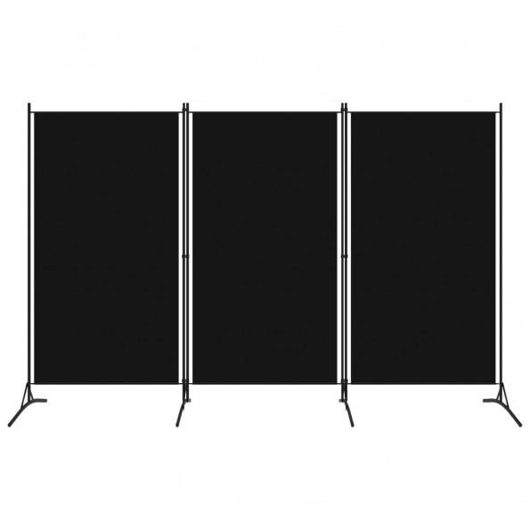 3-panels rumdeler 260 x 180 cm sort