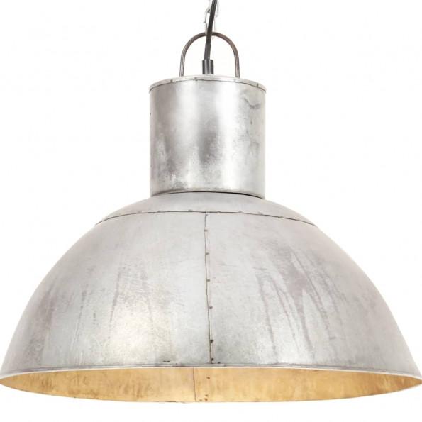 Hængelampe 25 W rund 48 cm E27 sølvfarvet